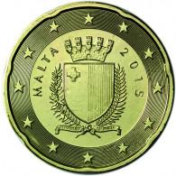 Malta 20 Cent 2015 bfr. Staatswappen Malta