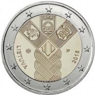 Litauen 2 Euro 2018 bfr. 100 Jahre Unabhänigkeit Sammlermuenzen