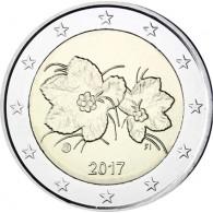 Finnland Kursmuenze 2 Euro Moltebeere 2017