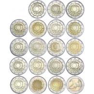 Euro Eurpa Flagge Münzen 2 komplett satz 2015