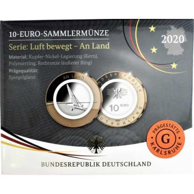 Deutschland 10 Euro 2020 PP An Land - Strandsegler Mzz. G
