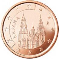 Spanien 5 Cent 2001 bfr. Kathedrale von Santiago de Compostela