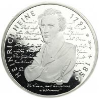 Deutschland 10 DM Silber 1997 PP Heinrich Heine Mzz. unserer Wahl