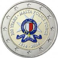 Malta 2 Euro 2014 bfr. 200 Jahre Polizei in Farbe