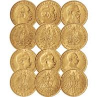 Goldmünzen Kaiserreich 6x20 Goldmark