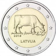 2 Euro Sondermünze Lettland 2016 Kuh Milchwirtschaft
