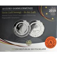 In der Luft – 10 Euro Münze Gleitschirm 2019 1. Ausgabe Polymerring