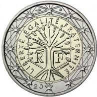 Kursmünze aus Frankreich 2 Euro 2018 mit dem Motiv Lebensbaum  Sondermünzen Gedenkmünzen Münzkatolog bestellen