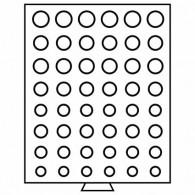 Zubehör für Kursmünzensätze 303198 -  Münzbox MB mit runden Einteilungen rauchfarben