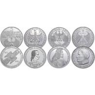 Die Ersten Vier 5 DM Silbermünzen der BRD