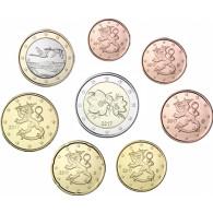 Finnland Muenzen Euro und Cent 2017