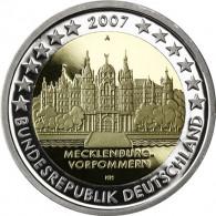 Deutschland 2 Euro 2007 PP Schloß Schwerin Mzz. Historia Wahl