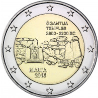 Tempel von Ggantija 2 Euro Münzen 2016