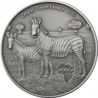 Silbermünzen Zebras Silver Ounces 2015