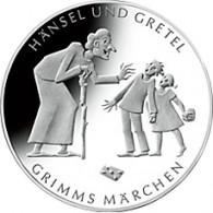 Gedenkmünze 10 Euro 2014 Hänsel und Gretel Grimm Märchen