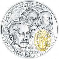 Oesterreich 20 Euro Silber  2017 PP  175 Jahre Wiener Philharmoniker Gold-Farb-Applikation