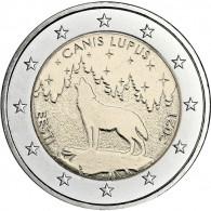 Estland-2-euro-2021-Nationaltier-Wolf