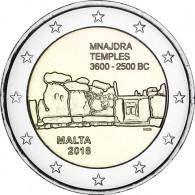 Mnajdra Euro Münze aus Malta von 2018