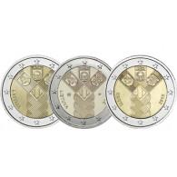 2 Euro Gemeinschaftsausgabe Baltikum 2018 100 Jahre Unabhänigkeit Estland Lettland Littauen