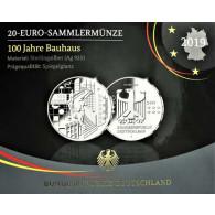 20 Euro Bauhaus 2019 uas Deutschland im Folder kaufen