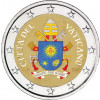 Farbmuenzen 2 Euro Vatikan Wappen von Franziskus 2017