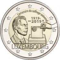 Luxemburg 2 Euro Münzen  2019 100 Jahre Allgemeines Wahlrecht  Mzz. St. Servatiusbrücke