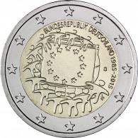 Deutschland 2 Euro 2015 bfr. 30 Jahre Europa Flagge Mzz. G