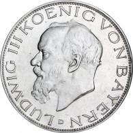 Kaiserreich 3 Mark 1914 König Ludwig III. von Bayern J.52
