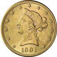 USA 10 Dollar 1866-1907 Liberty-Kopf Gold