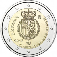 Spanien 2 Euro 2018 bfr. 50. Geburtstag König Felipe VI