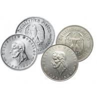 J.358 und J.359 2 und 5 Reichsmark 1934 175. Geburtstag Friedrich von Schiller