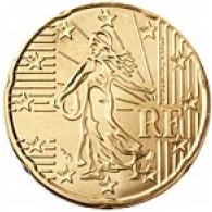 Frankreich 20 Cent 2001 bfr.