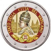 Vatikan 2 Euro Sondermünzen 2019 Stgl. 90. Jahrestag Gründung Staates Vatikanstadt mit Farbmotiv bestellen