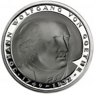 Deutschland 5 DM 1982 PP Johann Wolfgang von Goethe in Münzkapsel