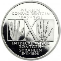Deutschland 10 DM Silber 1995 PP Wilhelm Korad Röntgen
