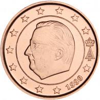 Belgien 1 Cent 1999 bfr. König Albert II.