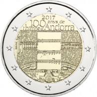 Nationalhymne 2 Euro Gedenkmünze aus Andorra 2017