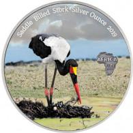 Farbmünze 1 Oz Silber Sattelstorch