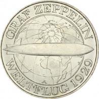 J. 342 Weimar 3 Reichsmark Zeppelin 1930  Sonderpreis
