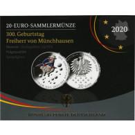 Deutschland 20 Euro 2020 PP 300. Geburtstag Freiherr von Münchhausen