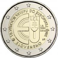 Slowakei 2 Euro 2014 bfr. 10 Jahre EU-Mitglied