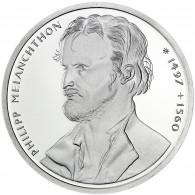 Deutschland 10 DM Silber 1997 Stgl. 500. Geburtstag Philipp Melanchthon