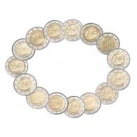 Gemeinschafts- Ausgabe 2009 10 Jahre Euro Währung WWU 2 Euro Gedenkmünzen