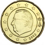 Belgien 20 Cent 2003 bfr. König Albert II.