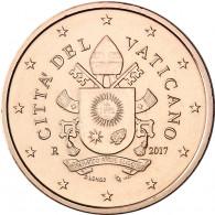 5 Euro Cent Muenze Vatikan 2017