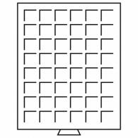 322045 -  Münzenbox mit eckigen Einteilungen rauchfarbend