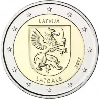Gedenkmuenzen 2 Euro Lettgallen - Latgale Region Lettland 2017