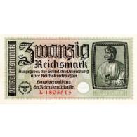 Banknoten - 20 Reichsmark  Dürer ohne Datum