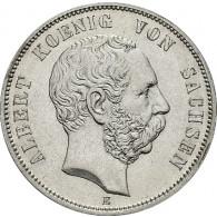 J.122 Sachsen 5 Mark 1875 - 1889 König Albert