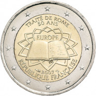 Frankreich 2 Euro Muenze  2007 50 Jahre Römische Verträge